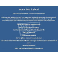 Best Design Just Solid Waskom 55x40 cm Wit Mat Solid Surface