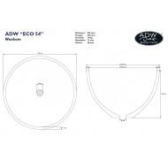 Best Design Just Solid Waskom 54x35 cm Wit Glans Solid Surface