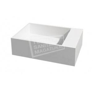 Best Design Just Solid Wastafel Enkel 50x30x15 cm zonder kraangaten Wit Mat Solid Surface