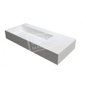 Best Design Just Solid Wastafel Enkel 90x48x13 cm zonder kraangaten Wit Mat Solid Surface