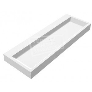 Best Design Just Solid Wastafel Enkel 120x50x11 cm zonder kraangaten Wit Mat Solid Surface