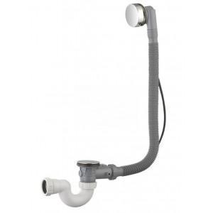 Luxe badplug-overloopcomb. + waste chroom