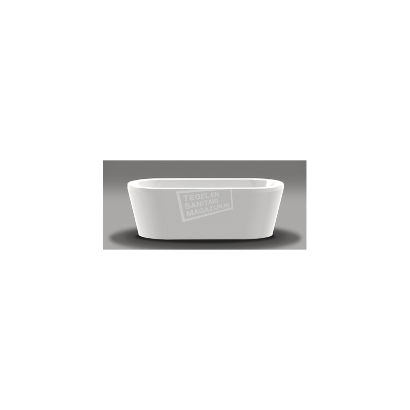 Vrijstaand Beterbad Luca (180x80x60cm) Duobad 230L Acryl Wit