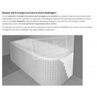 Beterbad/Xenz Lagoon Compact (160x75x40 cm) Solobad 215L Acryl Wit Asymmetrisch Links