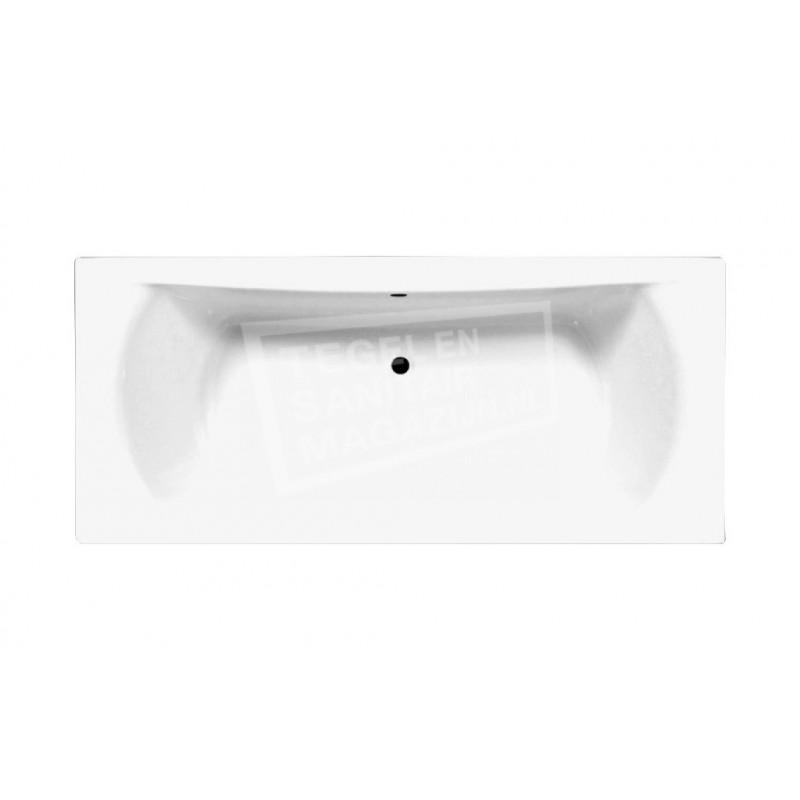 Best Design Wellness inbouwbad (180x80x42 cm) Duobad Acryl Wit