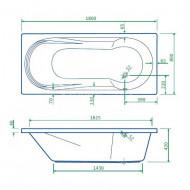 Best Design Bob inbouwbad met Douchegedeelte (180x80x42 cm) Acryl Wit