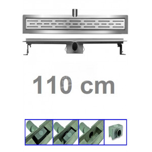 Bibury 3e Generatie 110 cm RVS met flens en rooster