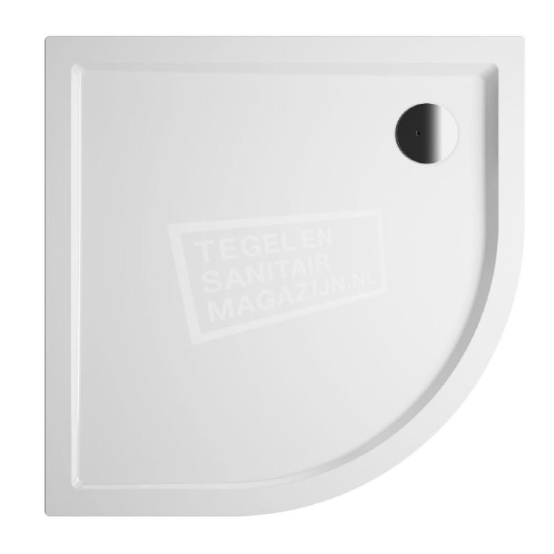 RIHO Davos 285 douchebak 100x100x14cm R55 wit met paneel