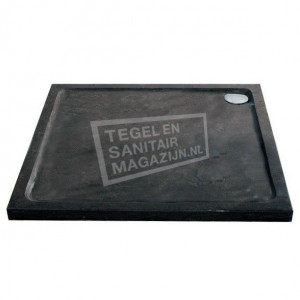 Sanilux Vierkant (100x100x4 cm) Douchebak Natuursteen Antraciet