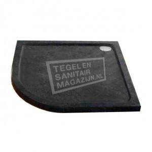 Sanilux Natuursteen (90x90x5 cm) Douchebak Kwartrond
