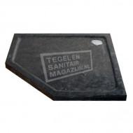 Sanilux Natuursteen (90x90x5 cm) Douchebak Vijfhoek