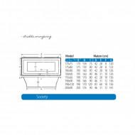 Beterbad/Xenz Society (190x90x50cm) Duobad inbouw 360L Edelweiss mat