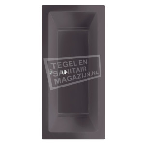 Beterbad/Xenz Society (170x75x50cm) Duobad inbouw 275L Acryl Antraciet mat