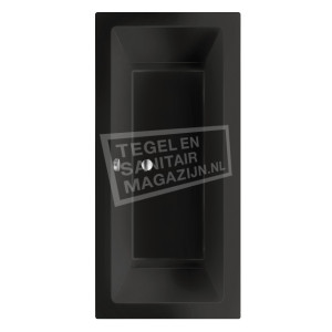 Beterbad/Xenz Society (170x75x50cm) Duobad inbouw 275L Acryl Ebony mat