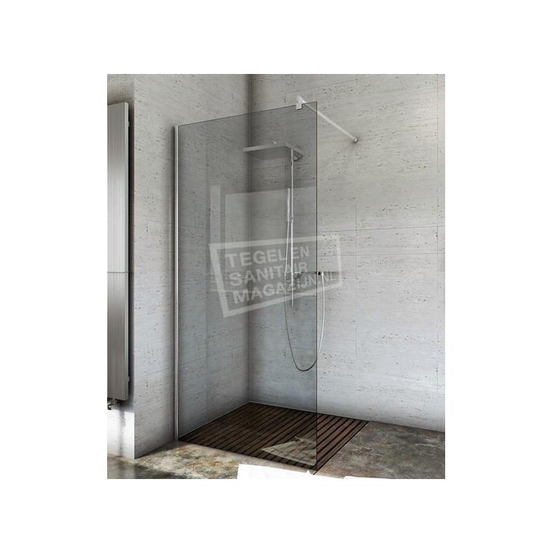 Inloopdouche 80 Cm.Bathxe Inloopdouche 80 Cm Glas Met Muurprofiel 8 Mm Nano