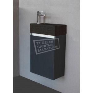 Toiletmeubel Kyara Hoogglans Antraciet