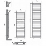 Vasco Bathline-BC handdoekradiator (500x1345) 707 Watt Verkeerswit