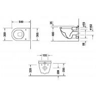 Duravit Starck 3 - Diepspoel (36x40x54)
