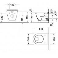 Duravit Starck 3 - Vlakspoel (36x40x54)