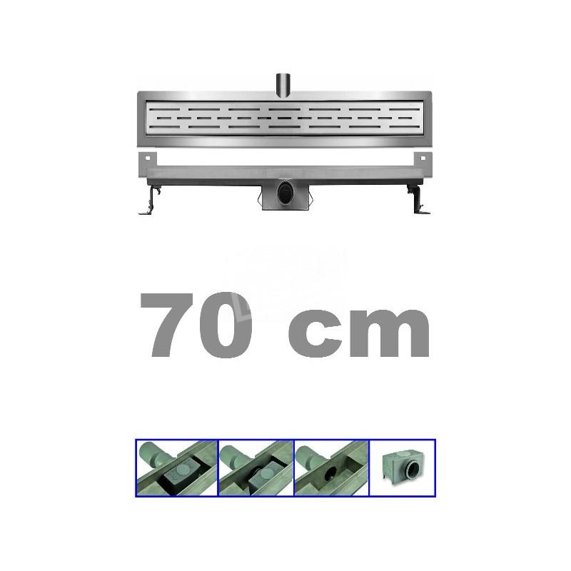 Bibury 3e Generatie 70 cm RVS met muurflens en rooster