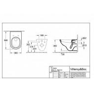 Villeroy & Boch O.Novo C+ - Vlakspoel (36x36x56)