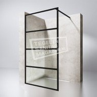 Gradara 1750 Black Edition (90x200 cm) met mat zwart frame en 8 mm NANO