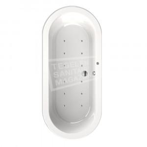 Wiesbaden Bianco Vrijstaand met whirlpool systeem Acryl Ligbad 178x80 + Waste Wit