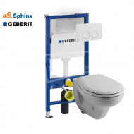 Sphinx Zico toiletset met Geberit UP100 en Delta21 bedieningspaneel