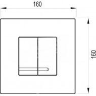 Wisa Delos bedieningsplaat voor XS WC element Wit