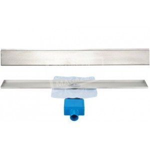 Aqualux Davenport 80 cm zonder flens met designrooster