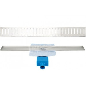 Aqualux Madison 80 cm zonder flens met designrooster