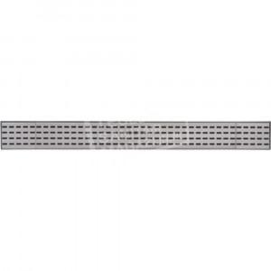 Plieger Start kunststof afvoergoot met 3 rvs platen 68.5x8.6x3cm zij uitloop 40/50mm