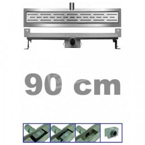 Bibury 3e Generatie 90 cm RVS met muurflens en rooster