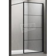 Gradara FFF Full Framed Black Edition (90x200 cm) met mat zwart frame en 8 mm NANO