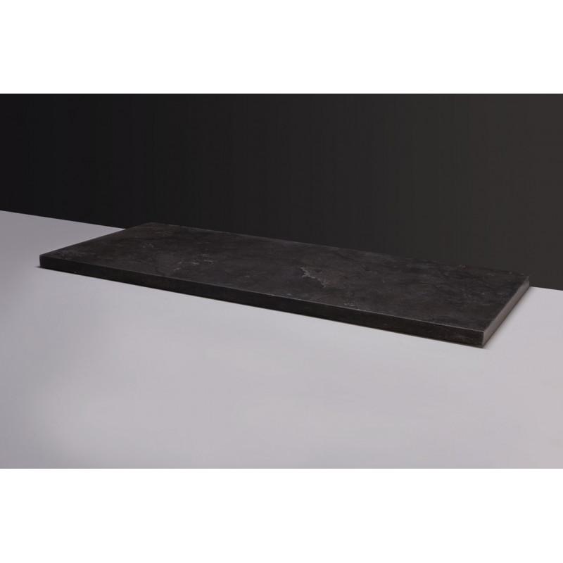 Forzalaqua Plateau Wastafelblad Rechthoek Hardsteen Gezoet 60,5x51,5x3 cm 1 afvoergat (72mm)