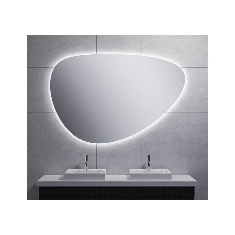 Spiegel Wiesbaden Uovo Organisch Dimbaar LED Verlichting Condensvrij 150 cm