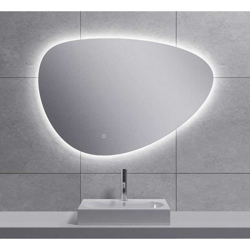 Spiegel Wiesbaden Uovo Organisch Dimbaar LED Verlichting Condensvrij 80 cm