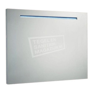 Aluminium spiegel met led verlichting 80 cm