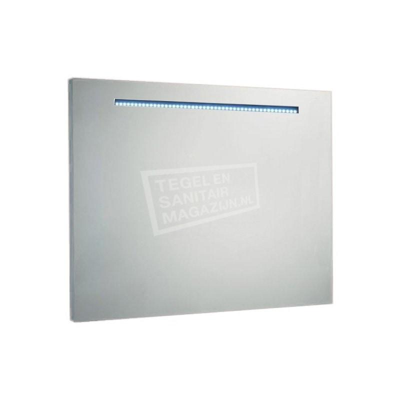 Aluminium spiegel met led verlichting 120 cm