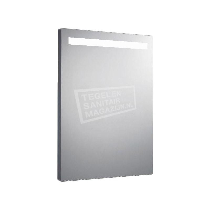 Aluminium spiegel met TL verlichting 58 cm