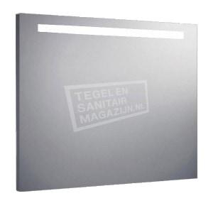 Aluminium spiegel met TL verlichting 100 cm