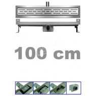 Bibury 3e Generatie 100 cm RVS met muurflens en rooster