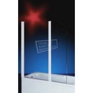 Plieger Bath (70+40x140 cm) Badklapwand chroom acryl
