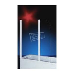 Plieger Bath (70+40x140 cm) Badklapwand chroom glas
