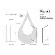 Aqualux Shine (110x185 cm) Schuifdeur Chroom 6 mm Dik Helder Glas
