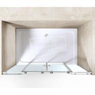 Gradara Twinroller 4-delige Schuifdeur (160x200 cm) 8 mm Dik Helder Glas
