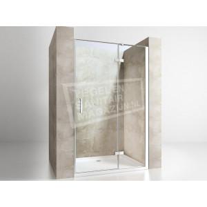 Gradara Frost Move Draaideur met vast paneel (80x200 cm) 8 mm Dik Helder Glas