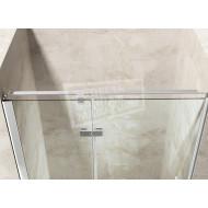 Gradara Frost Move Draaideur met vast paneel (90x200 cm) 8 mm Dik Helder Glas
