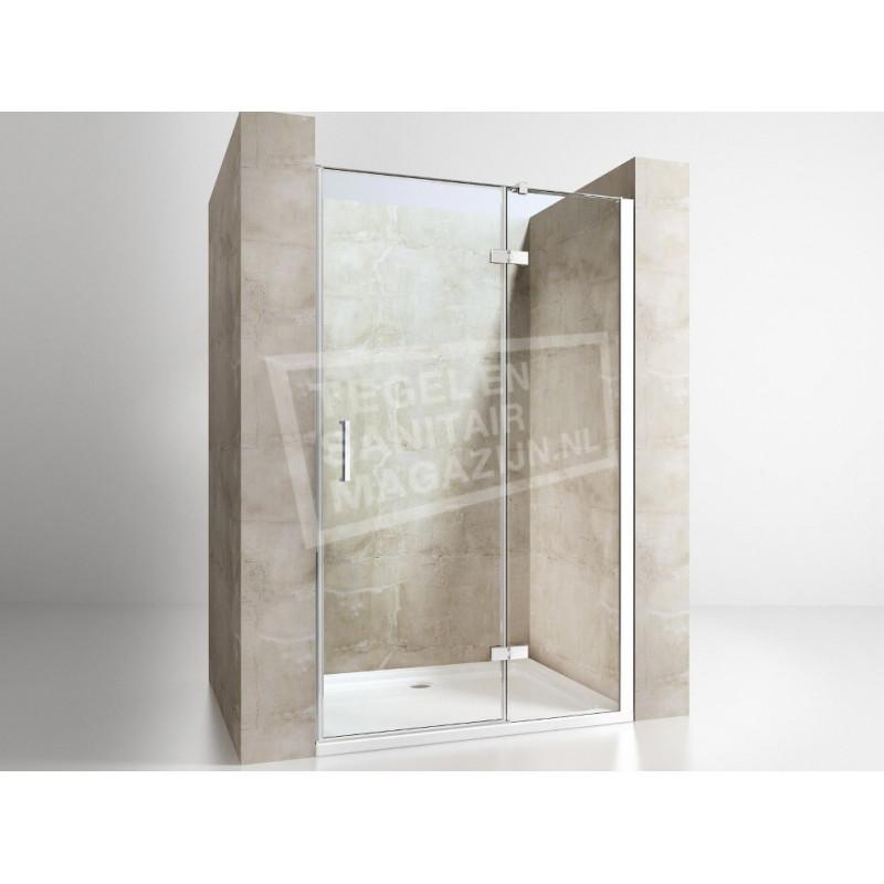 Gradara Frost Move Draaideur met vast paneel (100x200 cm) 8 mm Dik Helder Glas