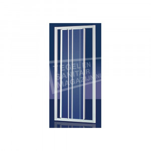 Plieger Economy Schuifdeur (90x185 cm) Aluminium 2,2 mm Dik Decor Glas